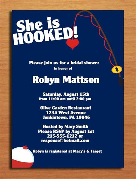 Walmart Bridal Shower Invitations by Hooked Fishing Bridal Shower Customized Printable