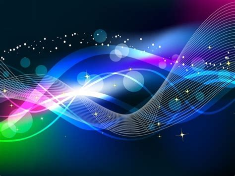 abstract wave color light background vector  vector