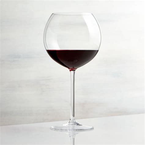 vineyard  oz burgundy wine glass crate  barrel