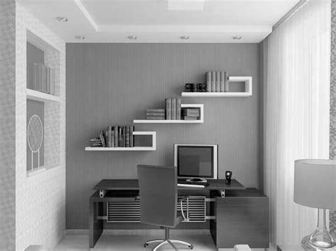 fascinating white and grey themes small home office ideas