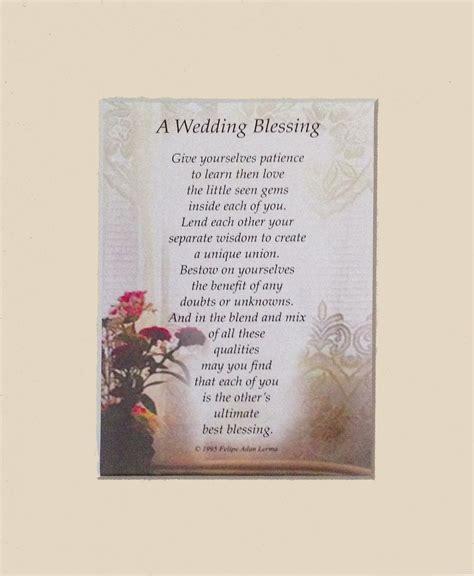 Wedding Blessings Poems