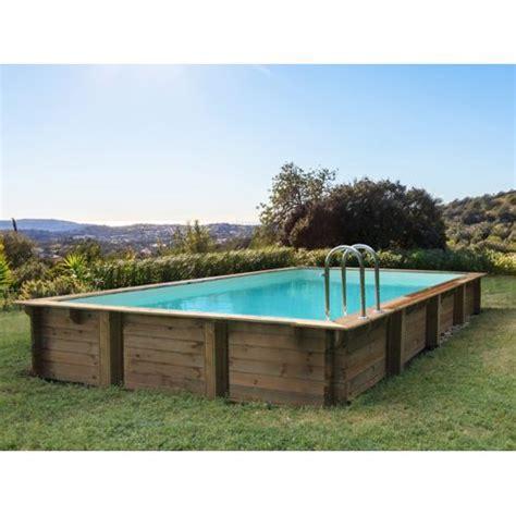 habitat et jardin piscine bois en kit rectangle oceano 9 20 x 5 20 x 1 44 m pas cher achat