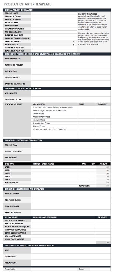 statement  work templates smartsheet