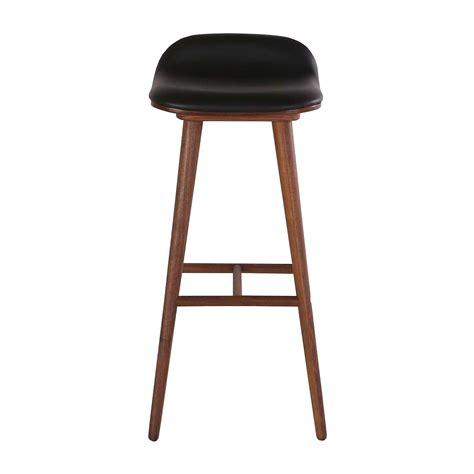 designer kitchen stools interiors capa leather bar stool walnut black 3263