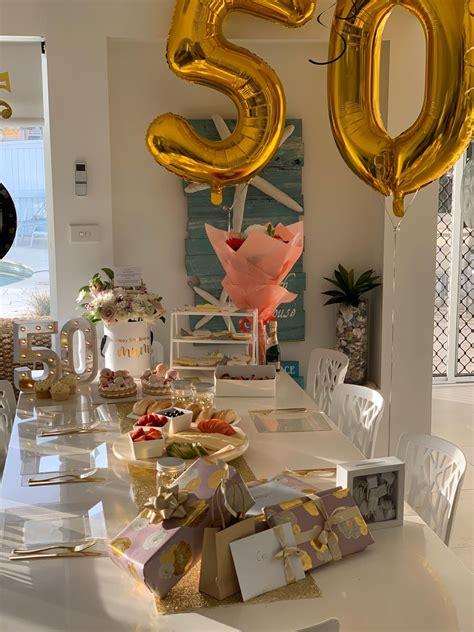 50th birthday ideas 50th birthday birthday table settings