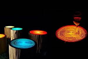Spectacular Lighting Ideas Add Color to Wood Furniture