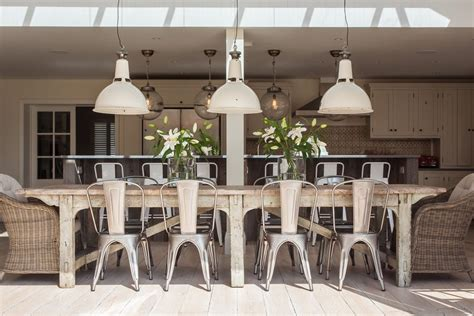 metal chair ideas dining room shabby chic style with