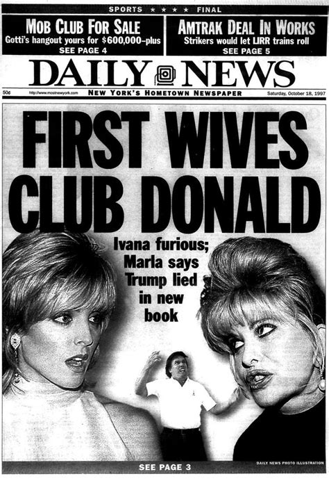 foto de Tabloid covers show Trump and Ivana divorce Business Insider