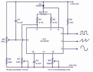 Icl8038 Based Audio Oscillator Circuit  Simultaneous Sine