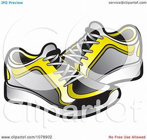 Clipart Pair of Sneakers - Royalty Free Vector ...