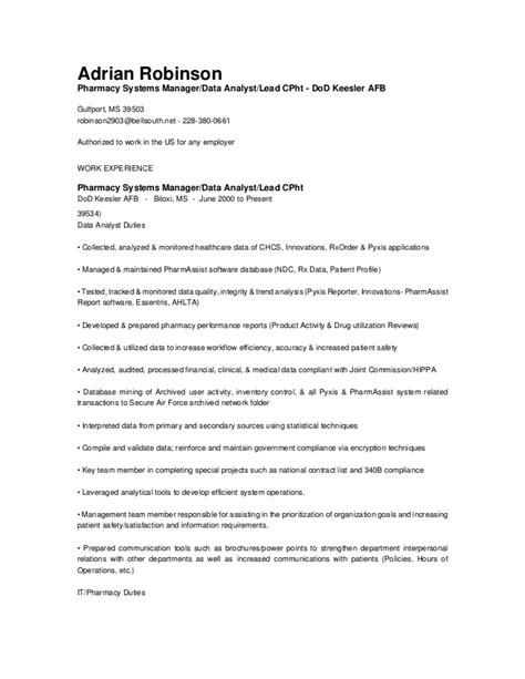 What Information Is Not Needed On A Resume by Data Entry Resume Information Technology Pharmacy Informatics