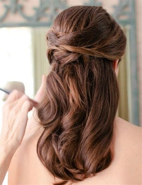 wedding hairstyles pretty half up half down wedding