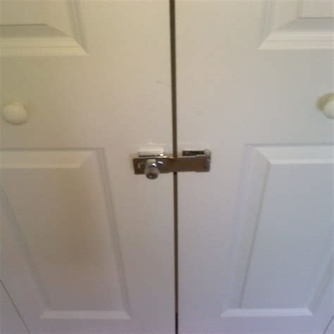sliding closet door locks  key bifold closet doors