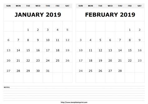 Free Printable February 2019 Blank Calendar Templates December 2018