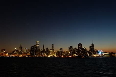 panoramic view  lighted city  night  stock photo
