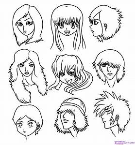 Draw Manga Faces, Step by Step, Drawing Sheets, Added by ...