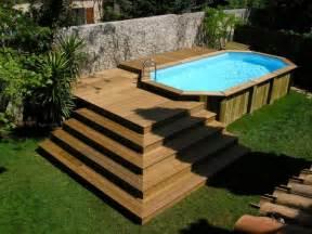 Escalier Pour Piscine Hors Sol En Bois by Votre Piscine Semi Enterr 233 E 30 Id 233 Es Cr 233 Atives