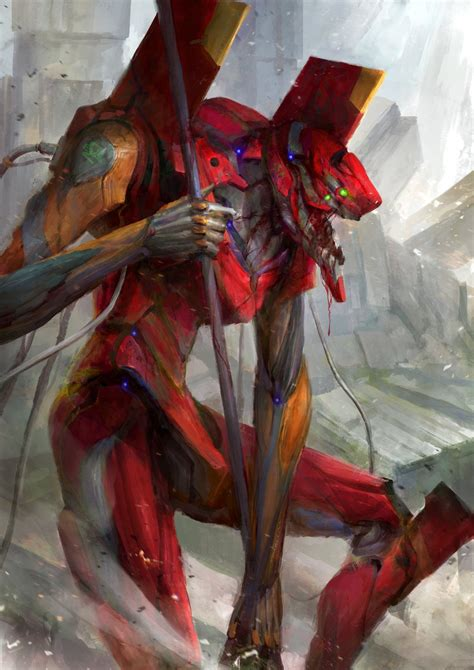 Evangelion - Unit 02 by theDURRRRIAN, Digital Painting ...