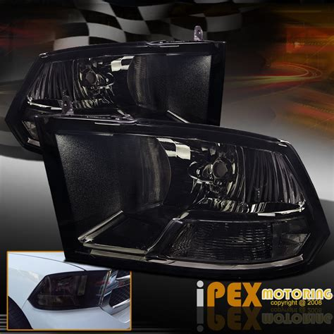 2009 2015 dodge ram 1500 2500 3500 smoked black headlights new free shipping