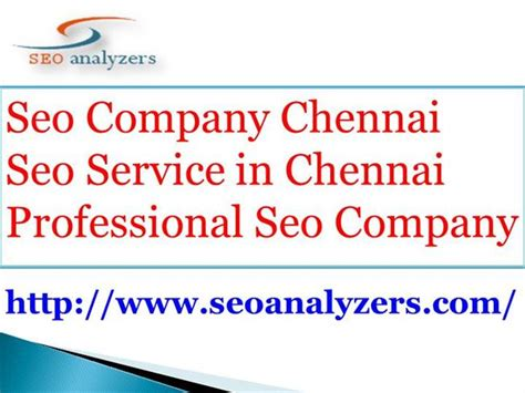 Seo Service Company - professional seo company seo services in chennai