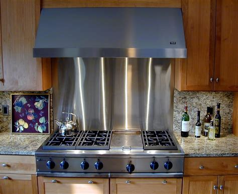 stainless steel kitchen backsplash panels stainless steel backsplashes brooks custom