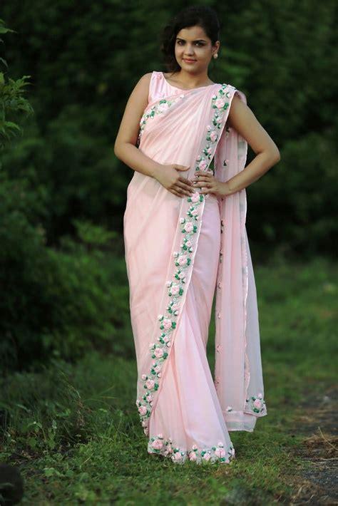 ribbon work saree simple craft ideas
