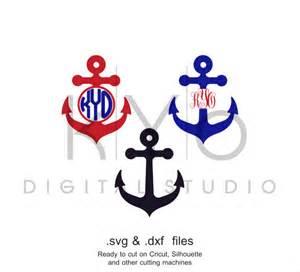 Anchor Svg File Monogram