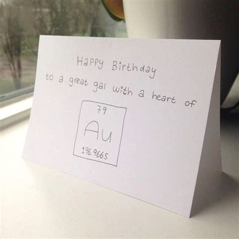 chemical happy birthday card chemistry birthday postcard