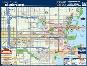 Map Downtown St. Petersburg FL