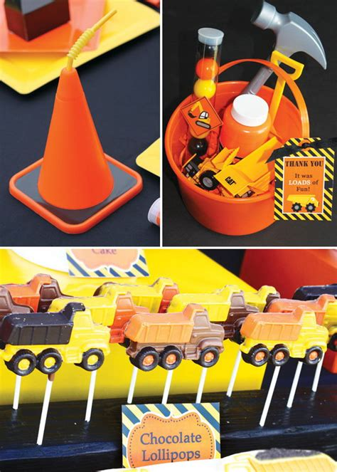 construction themed birthday party ideas hative