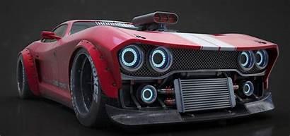 Artstation Cars Muscle Reference Sports Futuristic Mathew