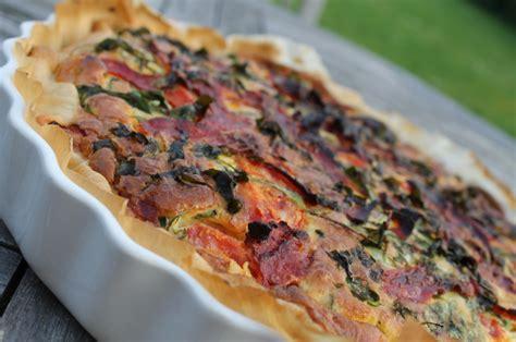 it s easy quiche roquette chorizo ch 232 vre frais et tomates