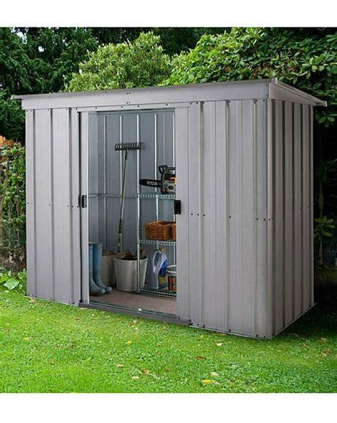 pent metal shed yardmaster 8x4ft pent metal shed oxendales