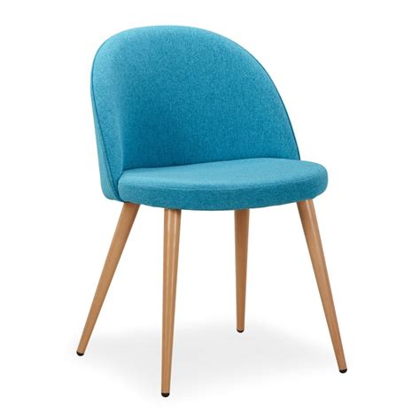chaise scandinave bleu canard fifthy lot de 4 pas cher scandinave deco