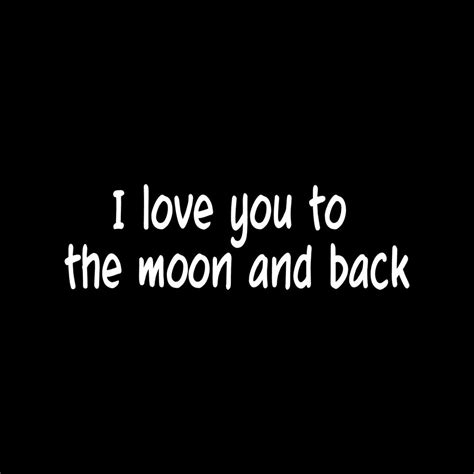 I You To The Moon And Back Kleurplaat by I You To The Moon And Back Sticker Vinyl Decal