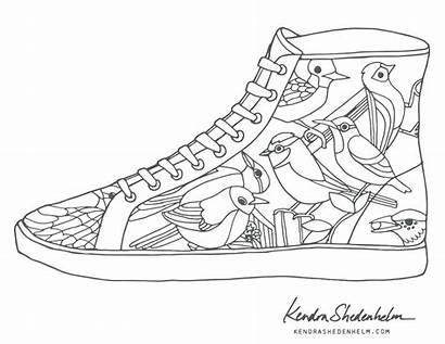 Coloring Shoe Shoes Pages Jordan Converse Nike