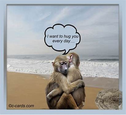 Hug Want Send Card Greeting Month Cards