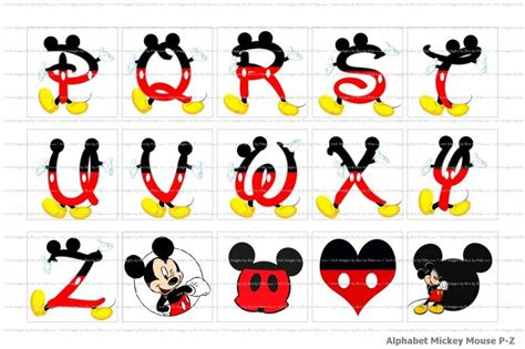mickey mouse letters 6 best images of mickey mouse letters alphabet mickey 92738