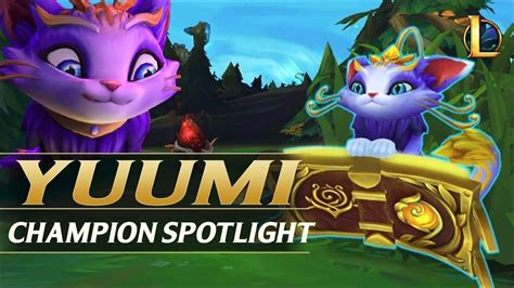 yuumi champion spotlight league  legends youtube