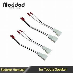 For Toyota Speaker Wire Harness Connects Aftermarket To Oem Adapter Plug Set Connector Wiring