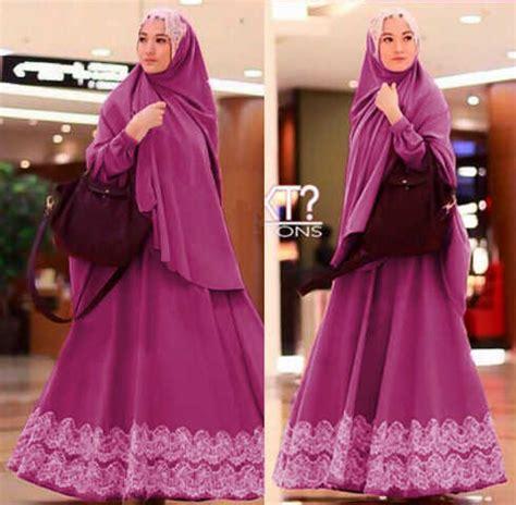 Model Baju Gamis Syari Brokat Terbaru Hijabers