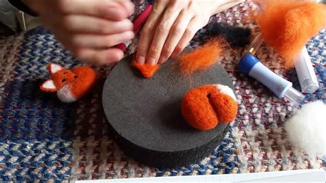 needle felting animals felt fox tutorial  beginners
