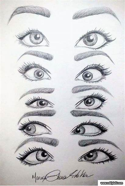Drawing Drawings Sketches Eyes Cartoon Draw Easy