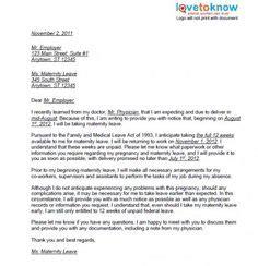 maternity leave letter template  teachers maternity