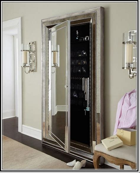 floor mirror safety home security safe room furniture floor mirror with jewelry storage belham living local