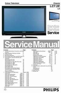 Philips 47pfl7642d Lcd Tv Service Manual   Schematics In