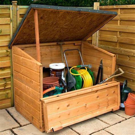 Wooden Garden Storage by 4 X 3 Waltons Wooden Garden Storage Chest