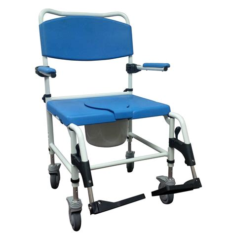 heavy duty aluminum bariatric shower commode chair rear