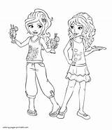 Friends Coloring Pages Lego Mia Printable Olivia Print Colouring Friend Larger Credit sketch template