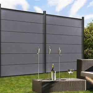 Sichtschutzzaun 2 50 M Hoch : br gmann sichtschutzzaun system wpc xl set grau silber 178 x 183 cm ~ Bigdaddyawards.com Haus und Dekorationen